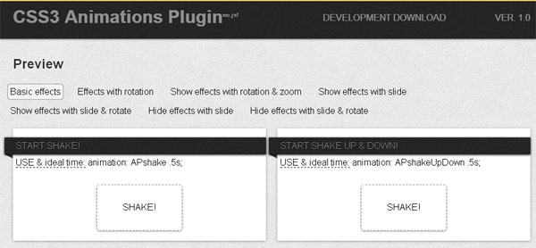 CSS3 Animations Plugin
